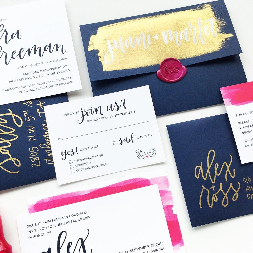 CUSTOM WEDDING SUITE DESIGN | ALEXANDRA EM.