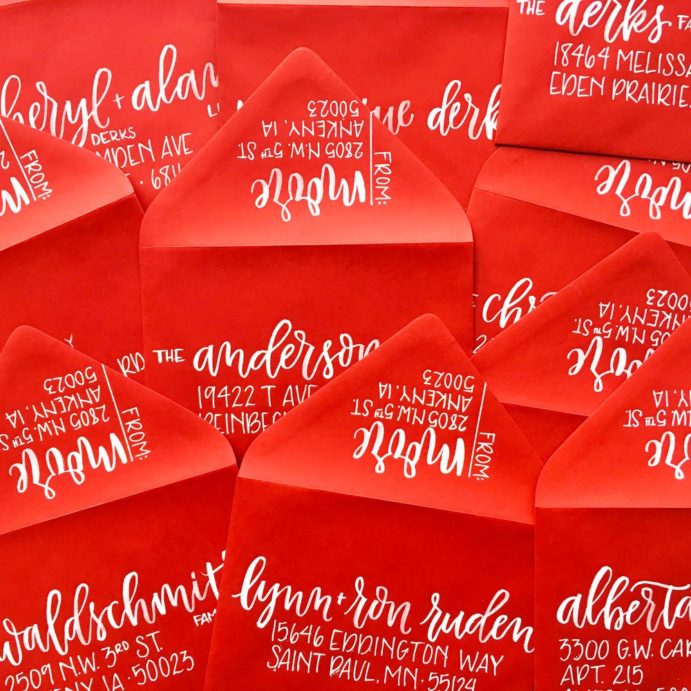 Custom Hand Lettered Envelopes | alexandra em. lettering + design