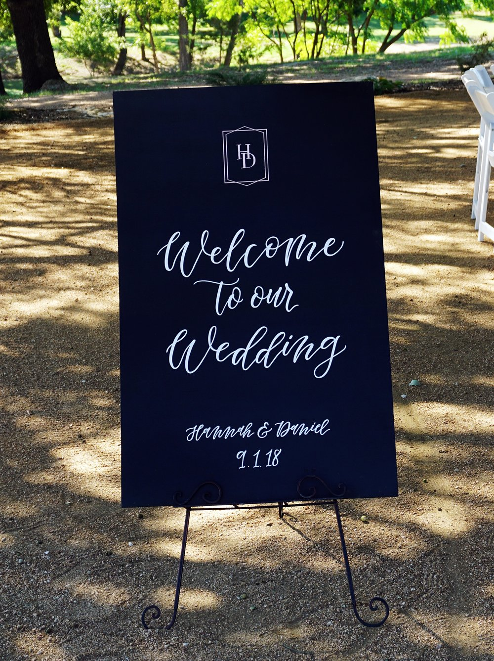 Custom Hand Lettered Welcome Sign | alexandra em. lettering + design