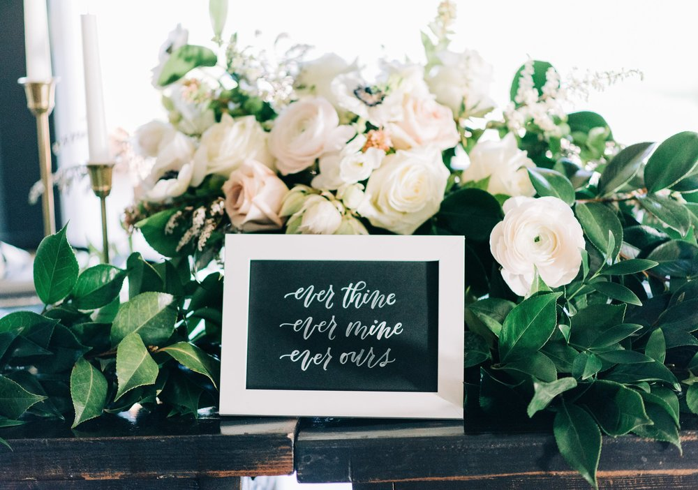 Hand Lettered Print | alexandra em. leetering + design | Photo: © Carhart Photography