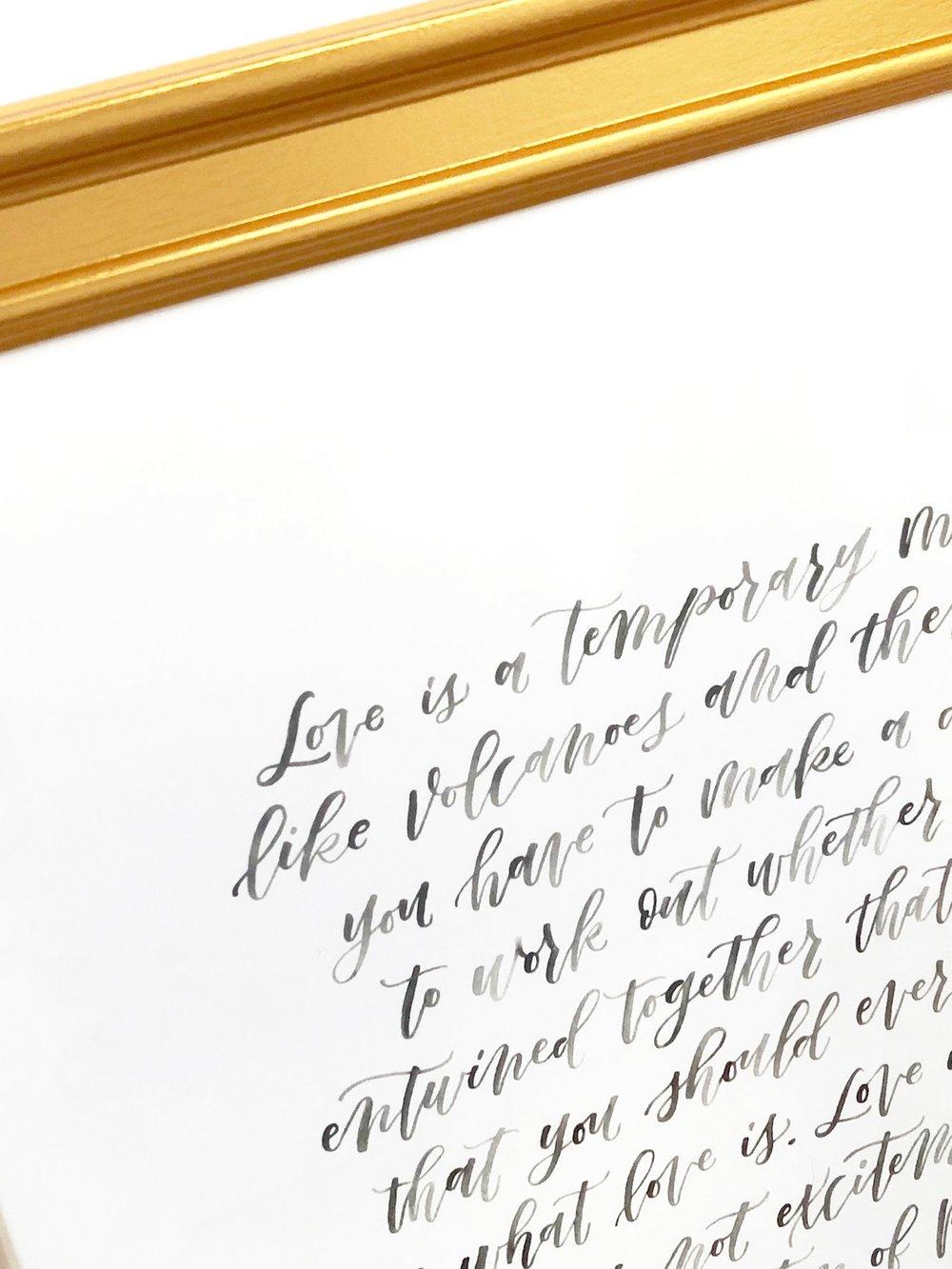 watercolor vows print -