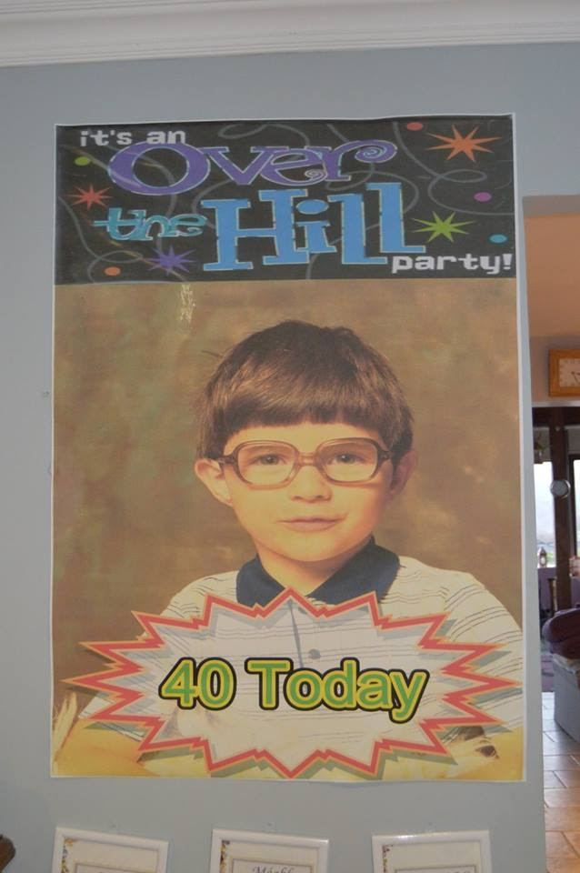 A0 Poster for 40th birthday taken from 6x4 old photo