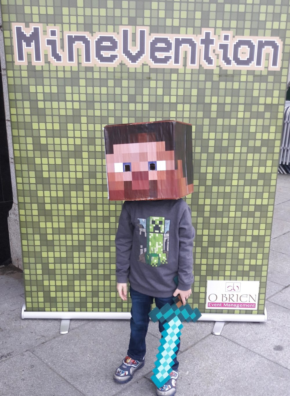 Mine craft Head printed in store.An