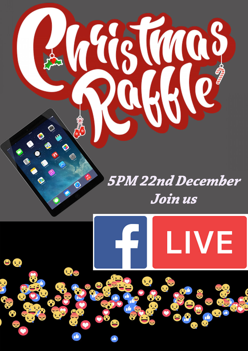 Christmas Raffle for iPad Air at Compuworld 5pm