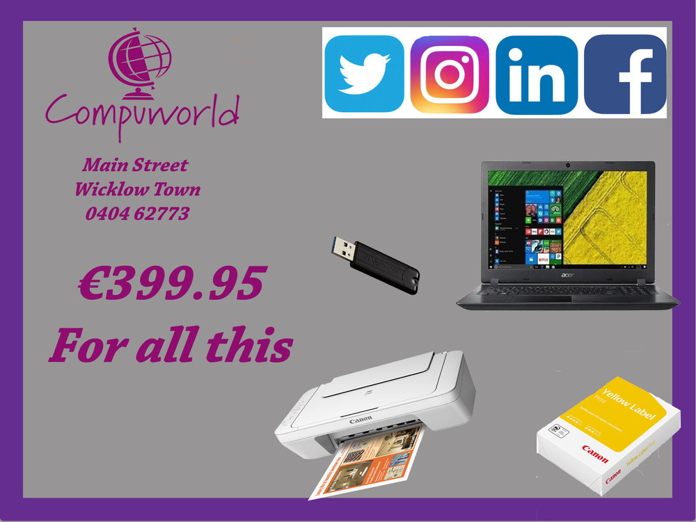€399.95 Laptop Bundle
