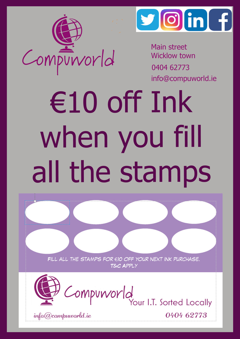 Get €10 off with every 8th cartridge.
