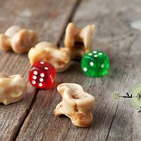 Dice were once made of bones and other materials.