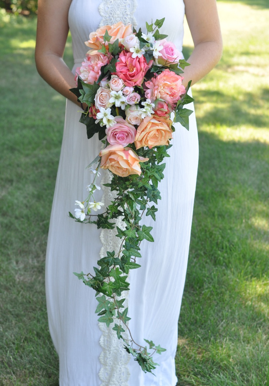 coral rose and peony cascade bouquet - 1.jpg