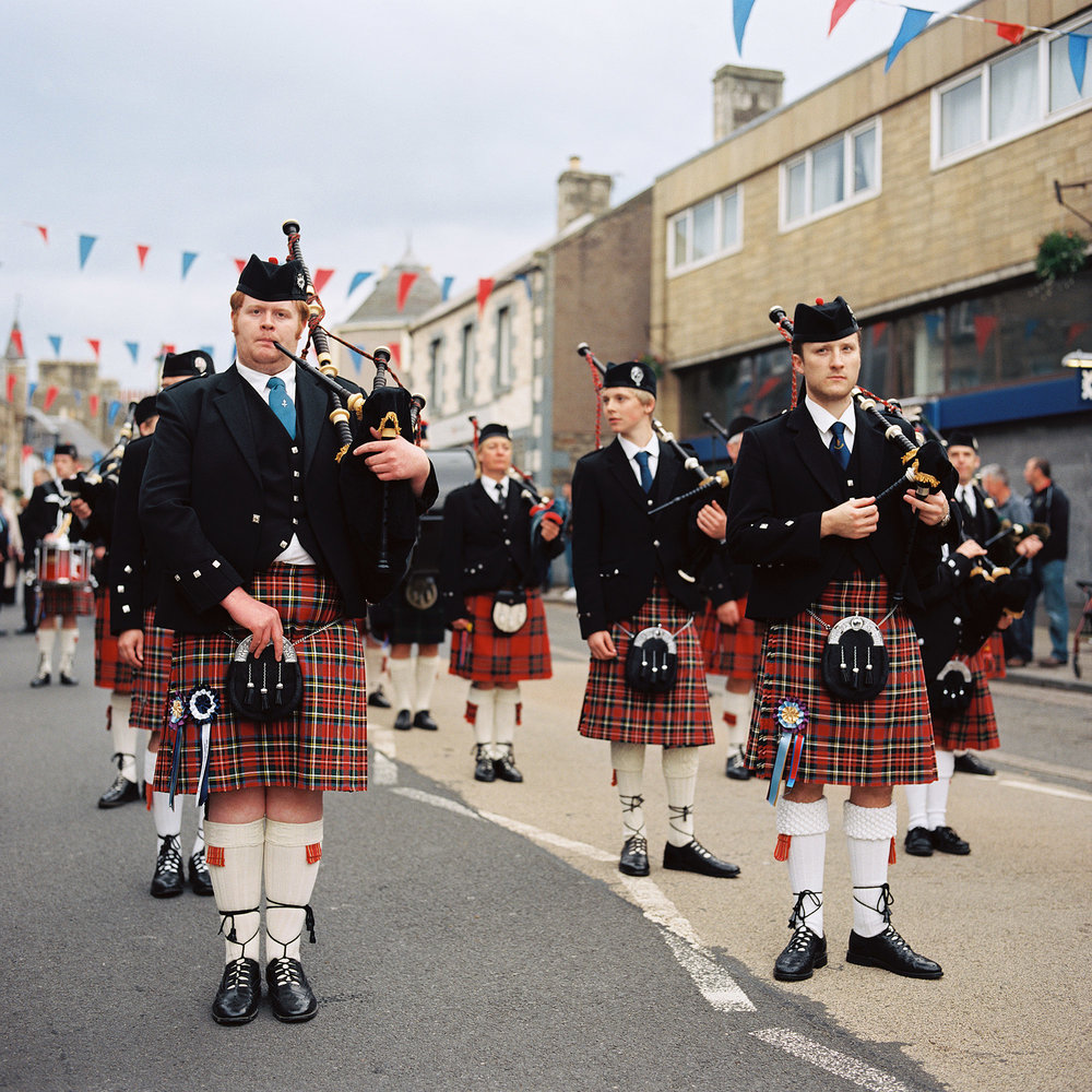 Pipers prepare to take part in the Selkirk Common Ridings