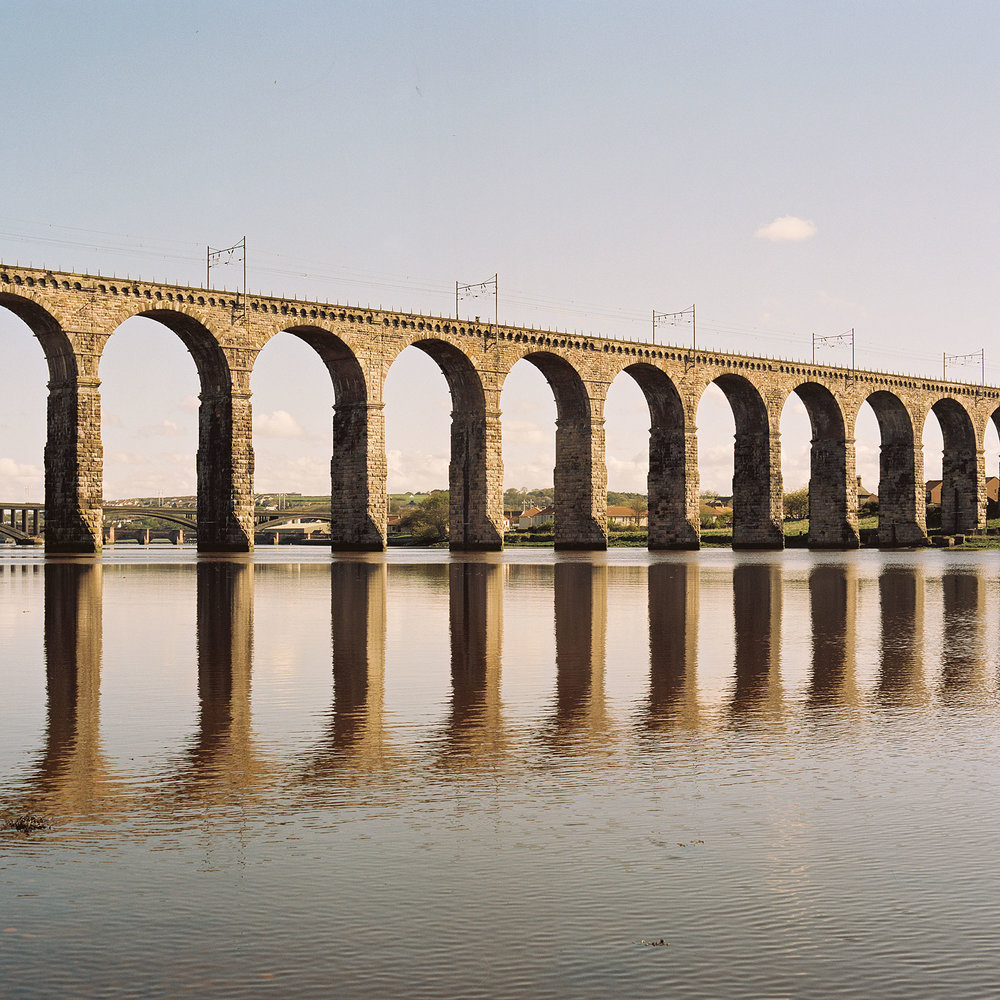 A railway bridge over the River Tweed in Berwick-Upon-Tweed, England
