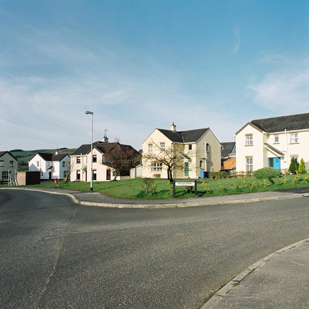 New houses in Killea, a village that straddles both sides of the border