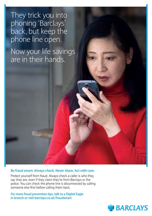 Fraud Smart campaign for Barclays