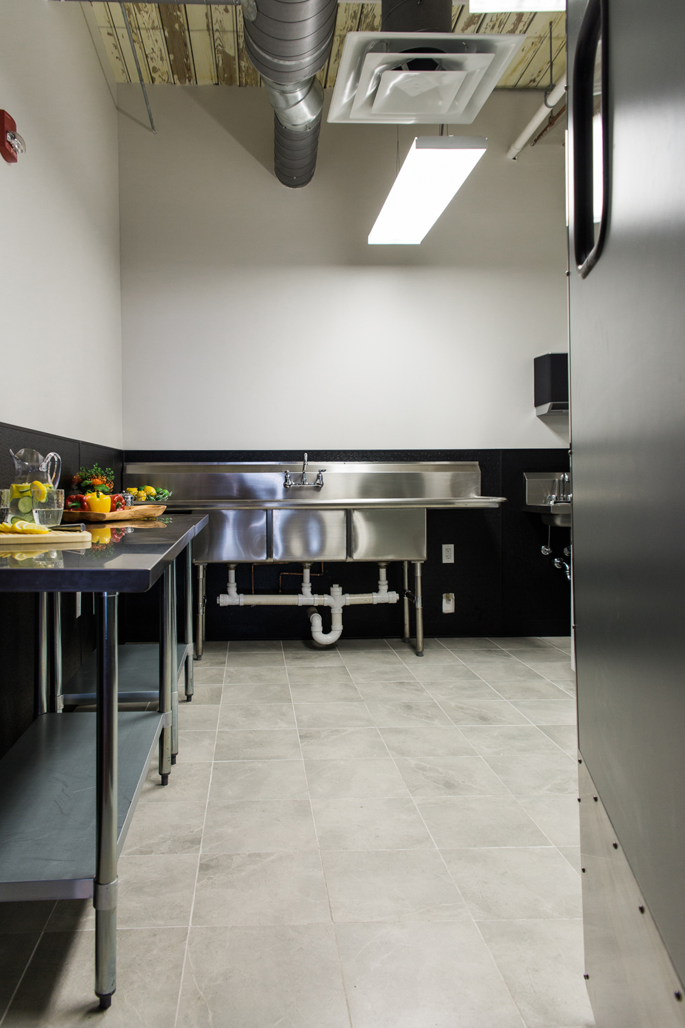 We even love the beauty,simplicity and function of the prep space for caterers!