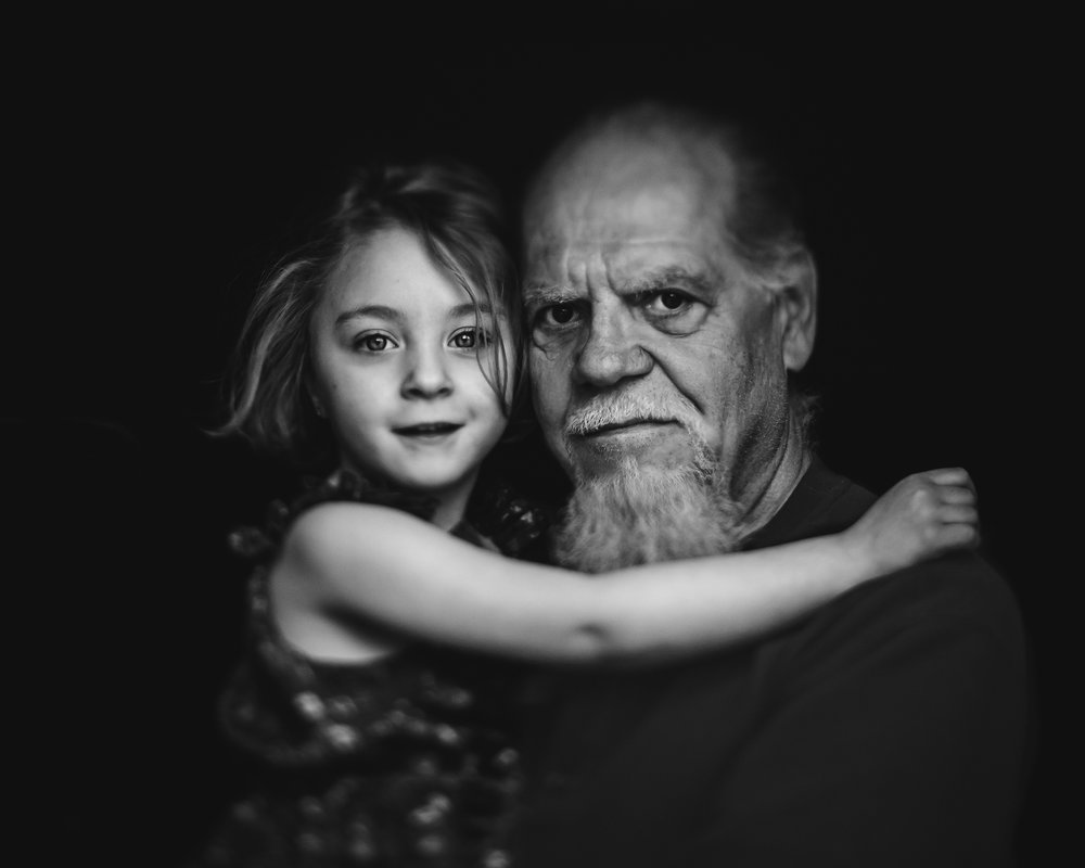 "HOLLY AWWAD-""A Portrait with Papa""   85mm freelensed, ISO 800, 1/1250"
