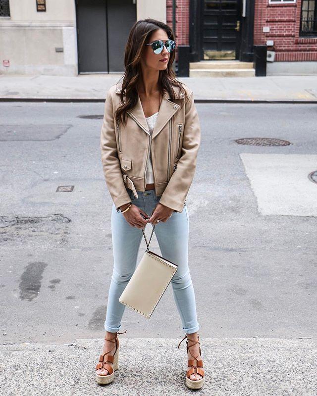 Blue Jean Baby 🎶👖☀️. . . . . #streetstyle #styleblogger #ootd #newyorkstyle #bloggerlife #wags #fashioninspo #darlingweekend #lookbook #revolve #ragandbone #saintlaurent #dior #instagood #instaglam #instastyle #thatsdarling #denim #leatherjacket #springstyle #spring #bostonblogger #goals #bossbabe #acolorstory #lifestyleblogger