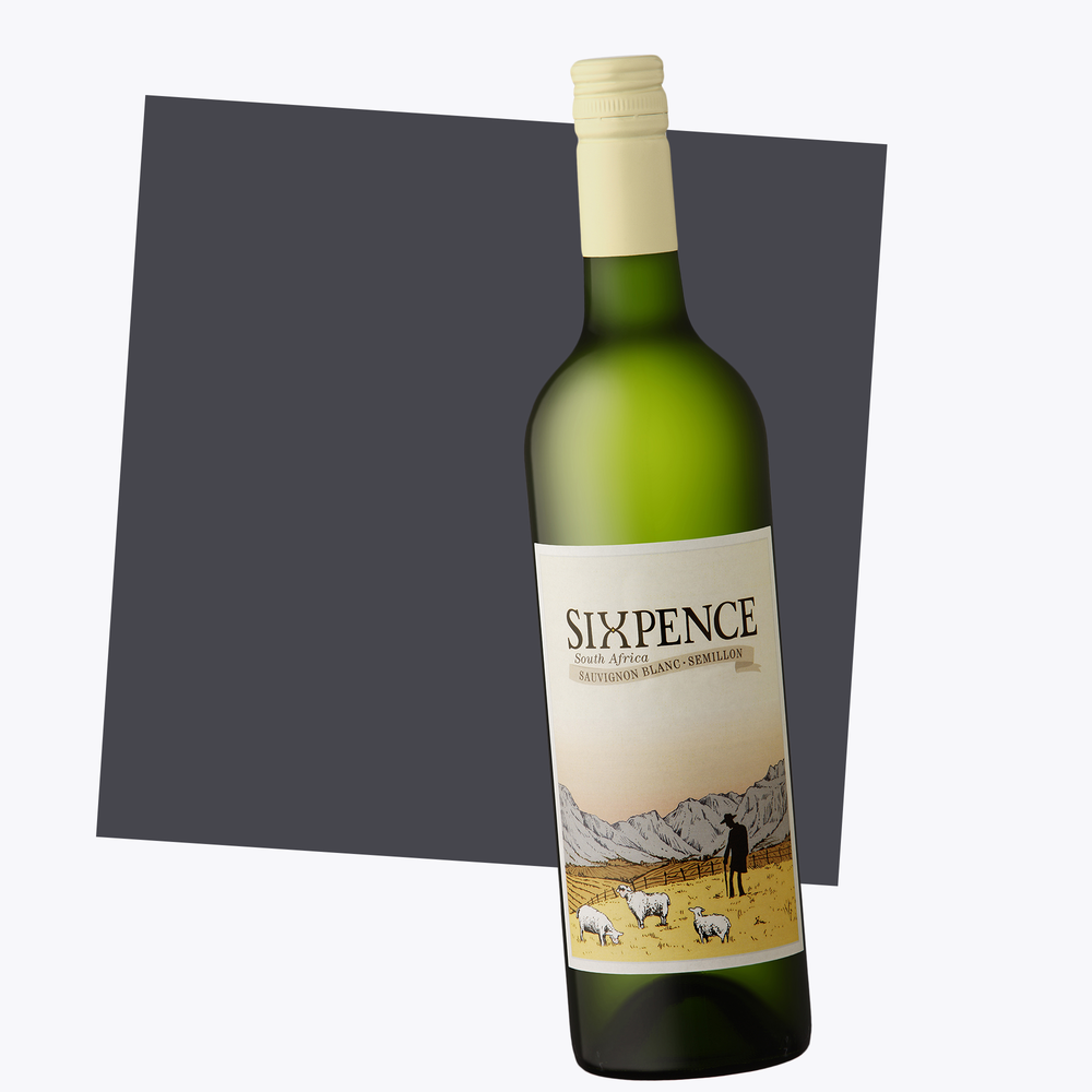 Sixpence White Blend Sauvignon Blanc Semillon By Opstal Wines Slanghoek Valley South Africa