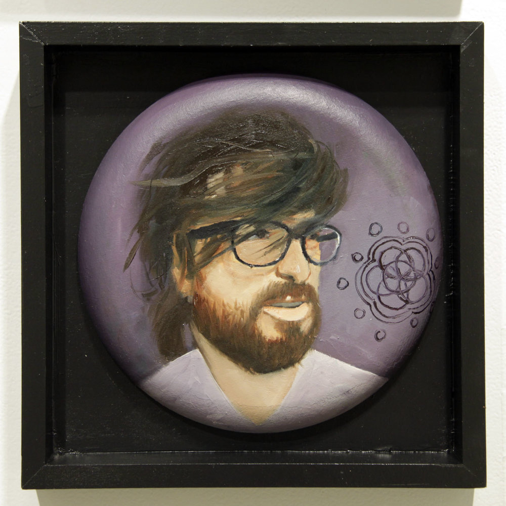 """...becoming free at a new level of being...""   12 inches in diameter / oil on cotton canvas"