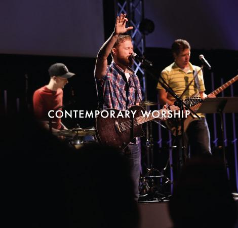 Contemporary Worship Image Links to Worship Page