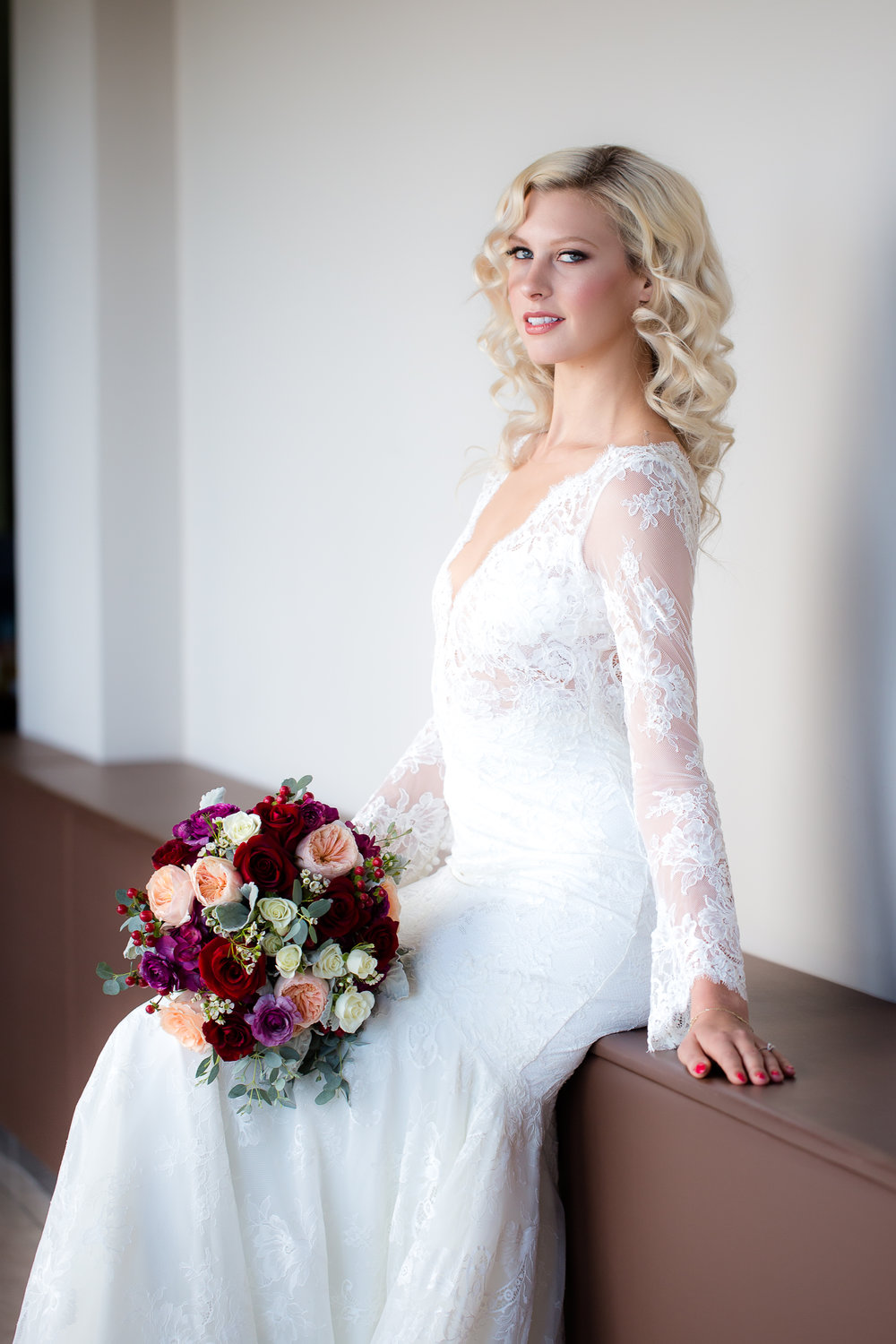 Perfect hair and makeup for Las Vegas wedding