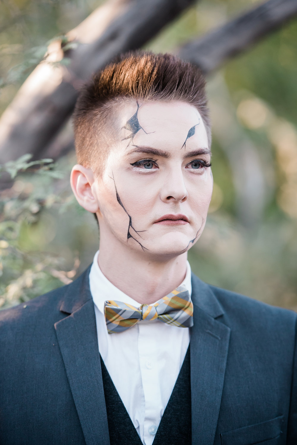Male Broken Doll Makeup