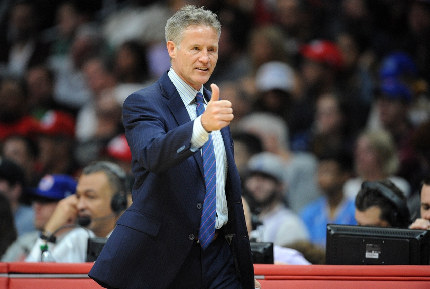 - Coach Brown led the Philadelphia 76ers to 28 wins in the 2016-17 season, an 18 game win increase over the previous season. The win increase was accomplished with the youngest roster of players in the NBA and was the largest win increase in the league in the last year.  Coach Brown is now the 6th longest-tenured coach in the NBA.  Bryan Colangelo, the 76ers President of Basketball Operations stated after the season in a sixers.com article: