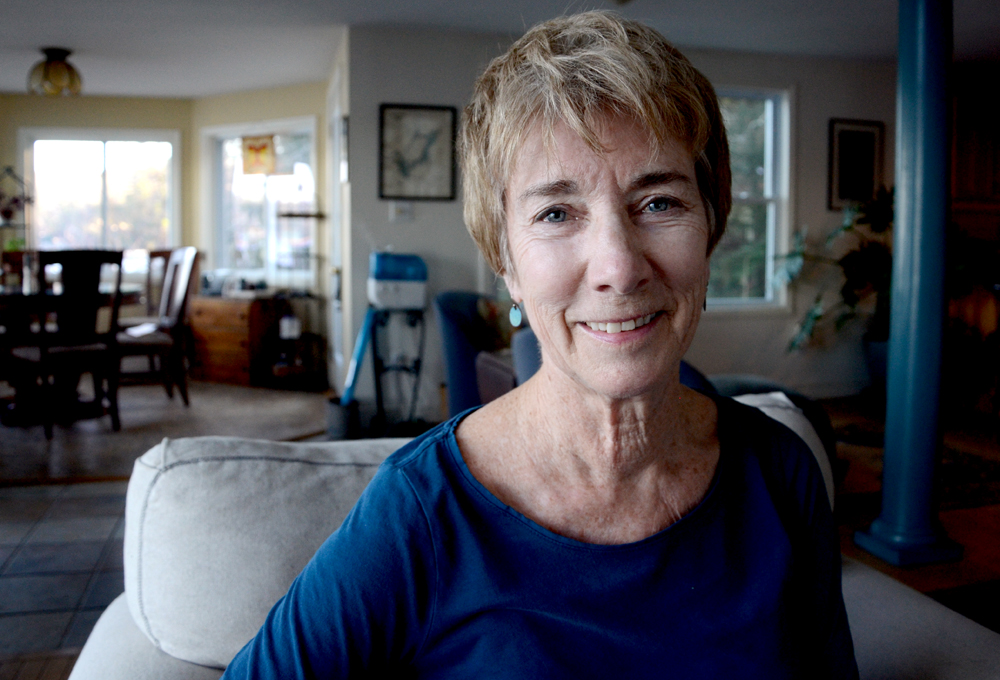 Pam, at her home in Nottingham. (Casey McDermott/NHPR)