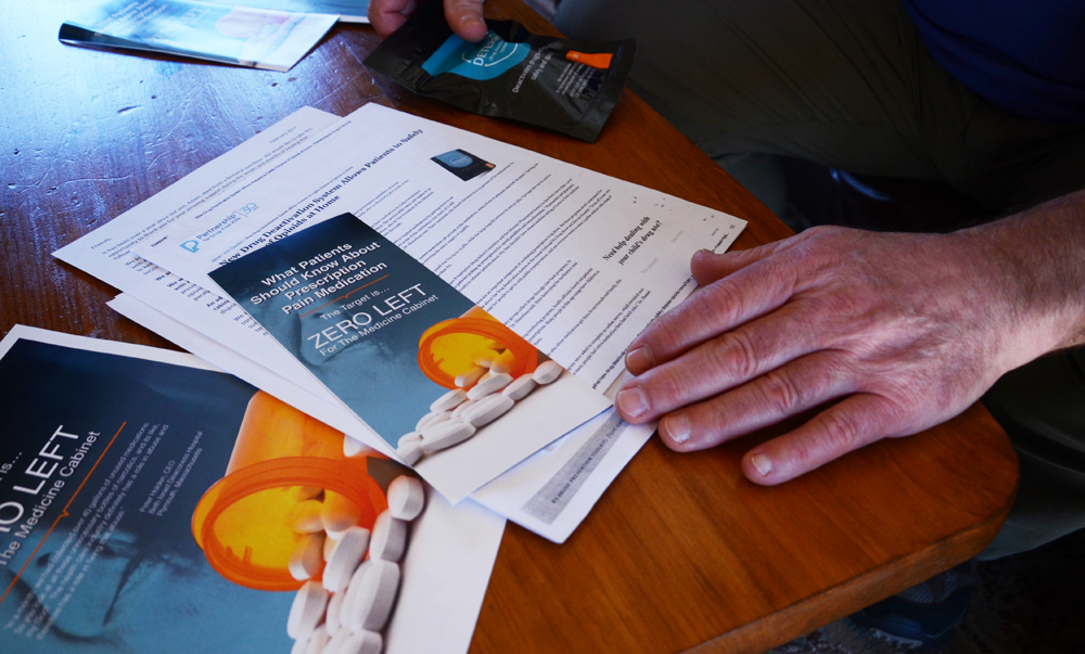 Wishing they knew more about the importance of carefully storing and disposing prescription drugs, the Mosers are now trying to partner with local hospitals and other medical institutions on an awareness campaign to encourage safe handling. (Casey McDermott/NHPR)