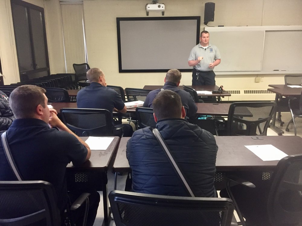 Chris Hickey, who's the EMS Director at Manchester Fire, trained the city's firefighters on how to treat overdoses with Carfentanil now on the streets.  CREDIT PAIGE SUTHERLAND/NHPR