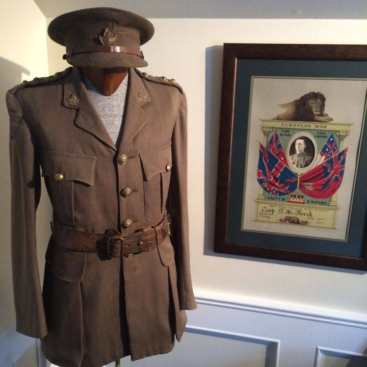 Thomas H. Ford's military uniform from the First World War.  Gord Steinke, Global News
