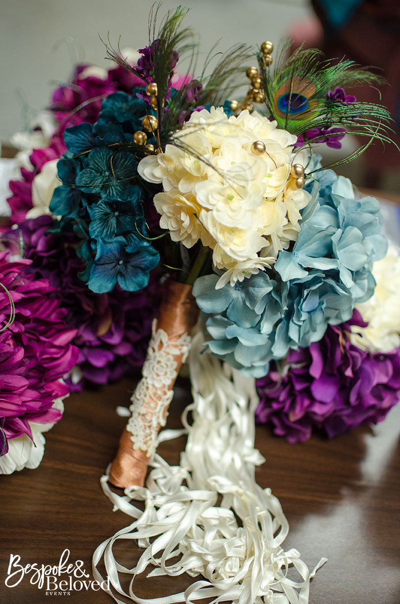 Silk flowers can be an alternative to fresh flowers.   Photo Credit:  Lisa Ross Photography
