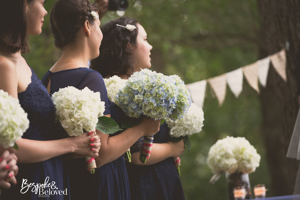 Large blossoms like Hydrangeas give you a lot of impact with fewer stems.   Photo Credit:  Brian Kapur Photography