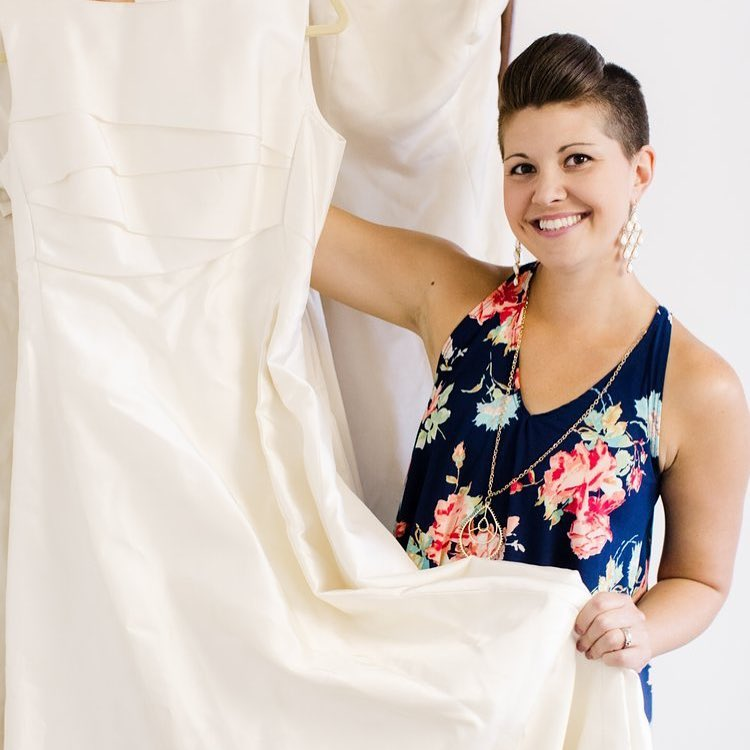 Nicole Brough, owner of Your Big Day, created the Dress Rescue event to help Pittsburgh and western Pennsylvania brides who lost their dresses when Alfred Angelo closed unexpectedly in July.   Photo by  Nicole Cassano  for  Rust Belt Life  .