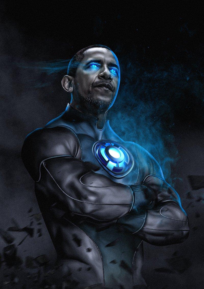 Barack Obama - Blue Lantern