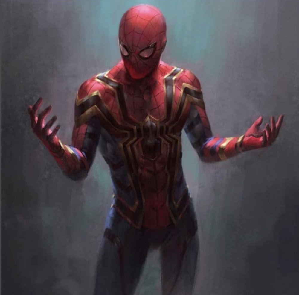 Artist's rendition of the Homecoming Iron Spider suit