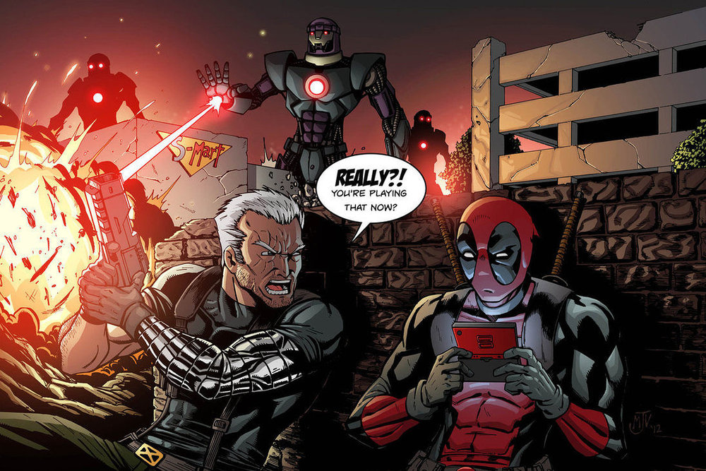 Cable and Deadpool Friends