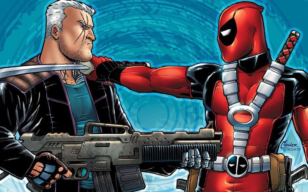 Cable and Deadpool Faceoff