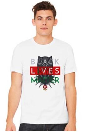 White-Black Panther BLM Shirt