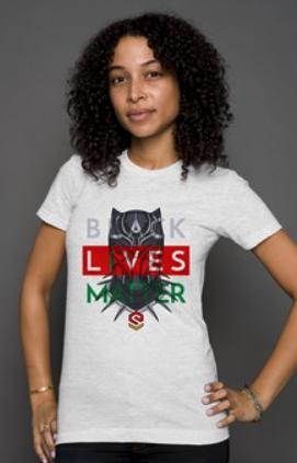 Heather-Black Panther BLM Shirt