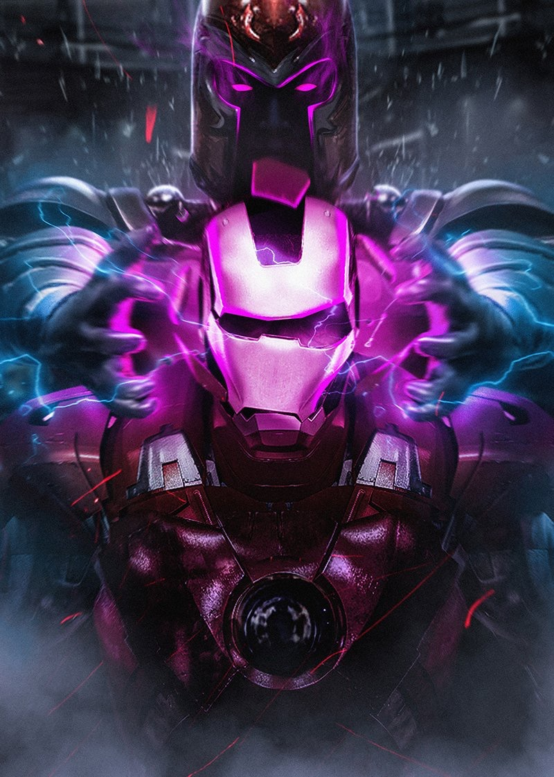 Iron Man armor helpless against the power of Magneto - by  Bosslogic