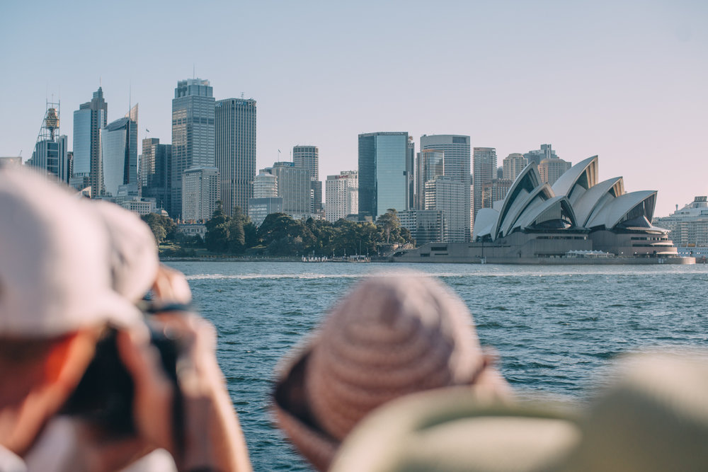 taking in the views from the manly - circular quay ferry