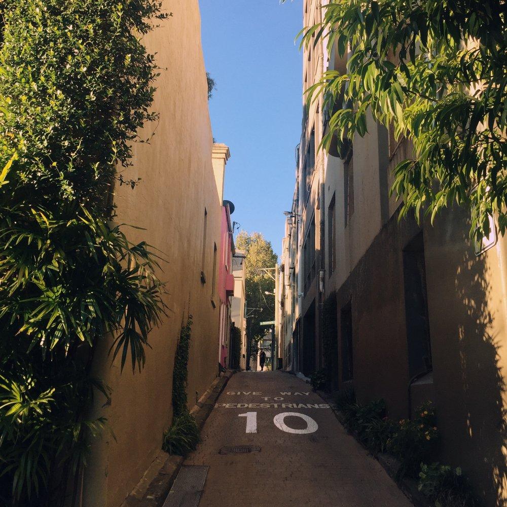 our pretty little street in surry hills. looks a bit italian!