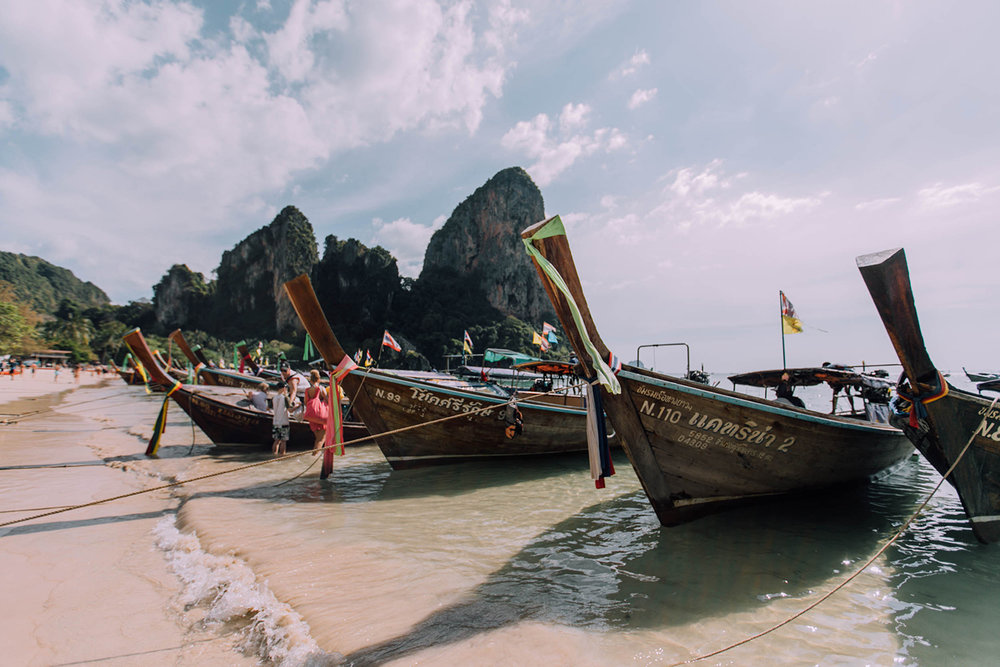 the main railay beach