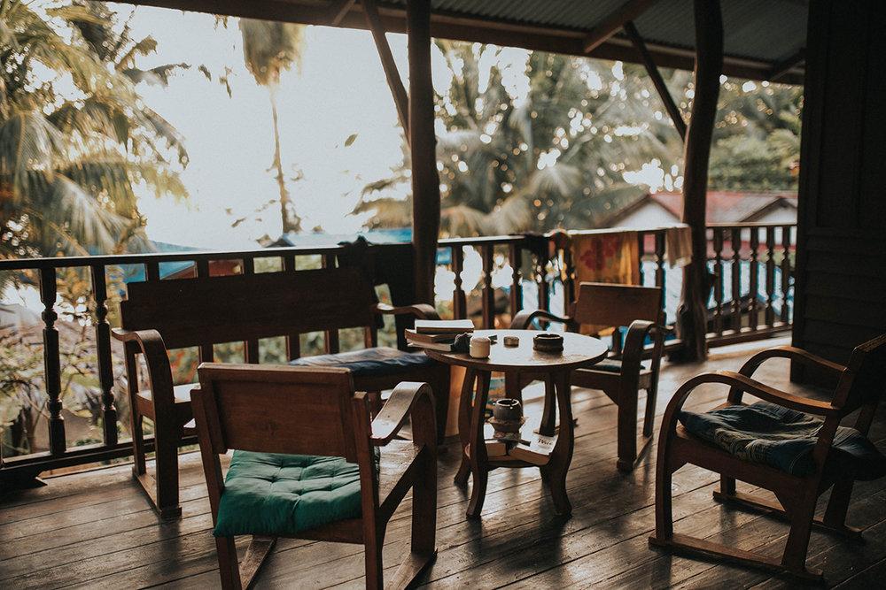 our cute lil balcony on koh phangan