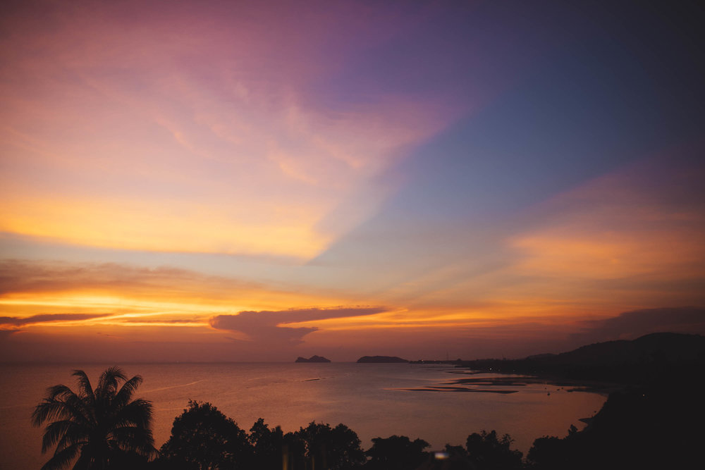 sunset on koh phangan from  cafe 2401