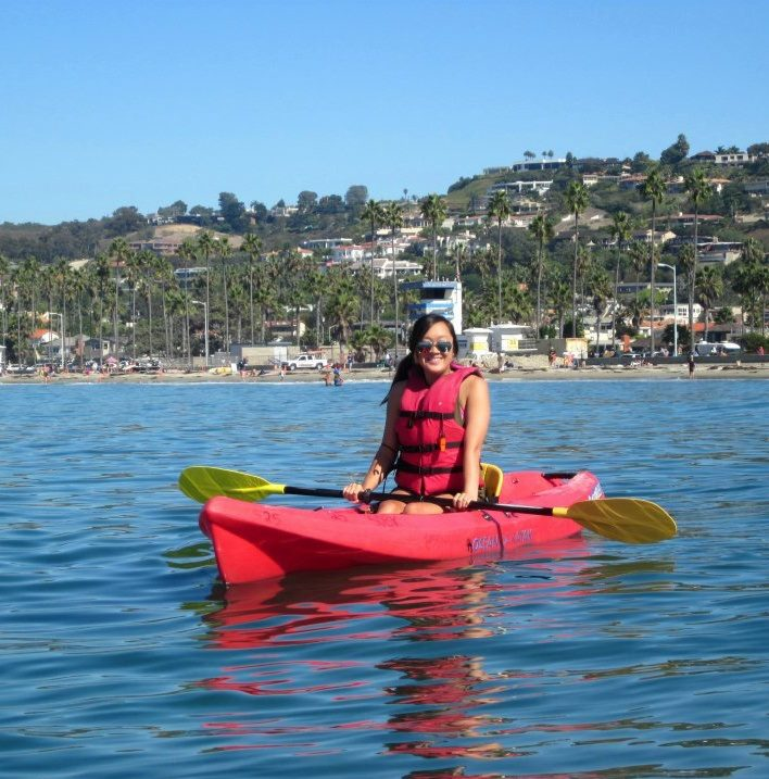 Me on my kayak in La Jolla - safety first :P