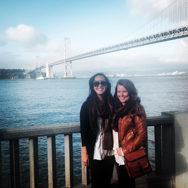Me & my friend at the Oakland Bridge