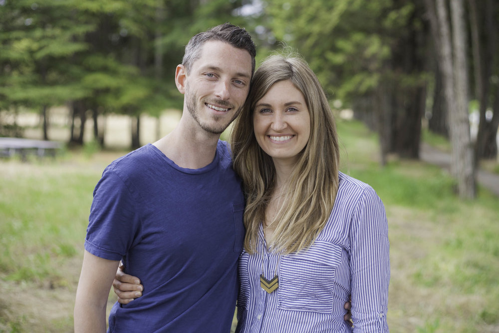 Evan and Lindsay brown, senior pastors