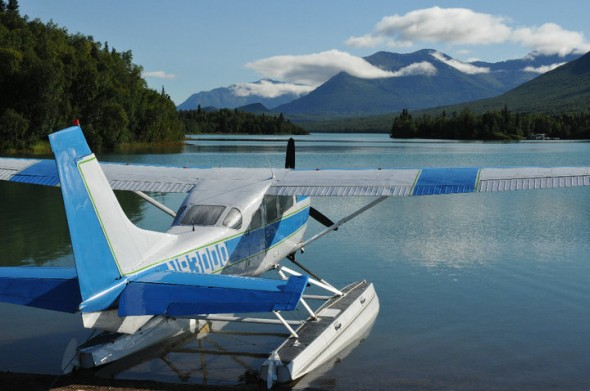 Plane in Port Alsworth, Alaska
