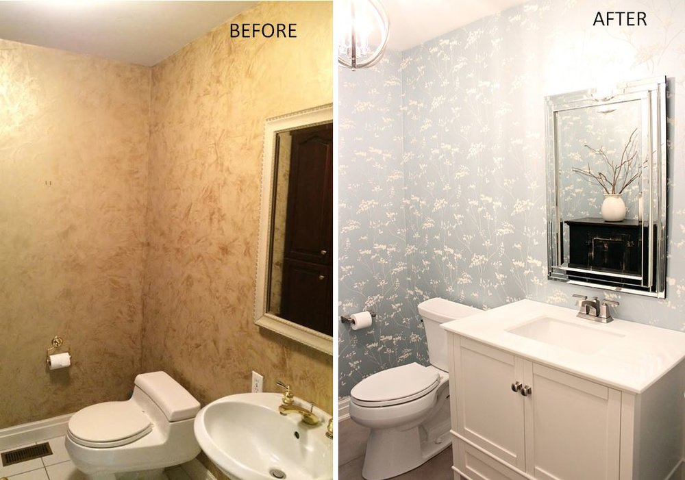 kmsd escarpment family home pwdr room before after