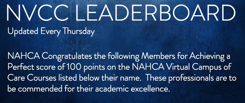 NVCC Leaderboard